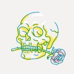 skull love 150x150 برش تصاویر بصورت لوزی