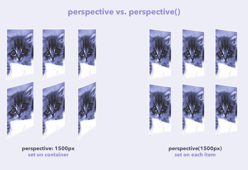 تفاوت perspective و تابع آن