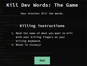 Kill Dev Words