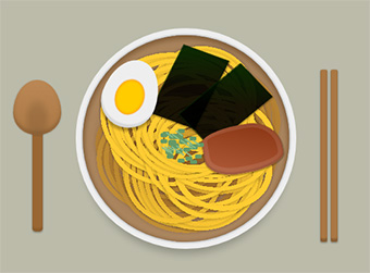 Ramen by pure CSS