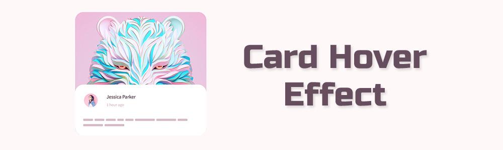پویاسازی افکت کپشن متحرک برای یک کارت یا تصویر در CSS